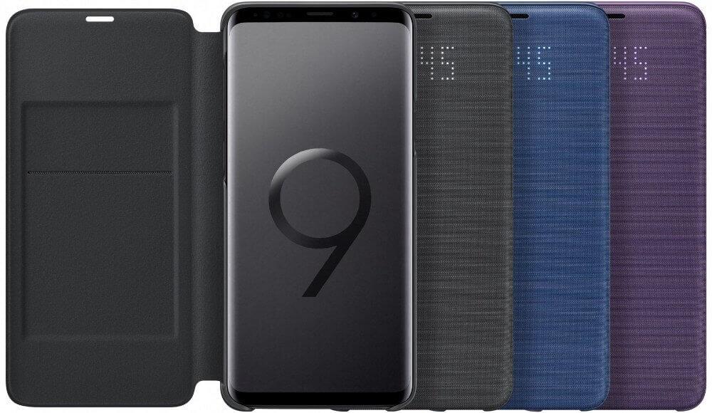 2husa protectie samsung led flip wallet pentru galaxy s9 plus g965f 1