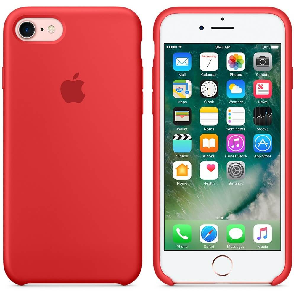 caaaapac protectie spate apple silicone case productred pentru iphone 7 mmwn2zm