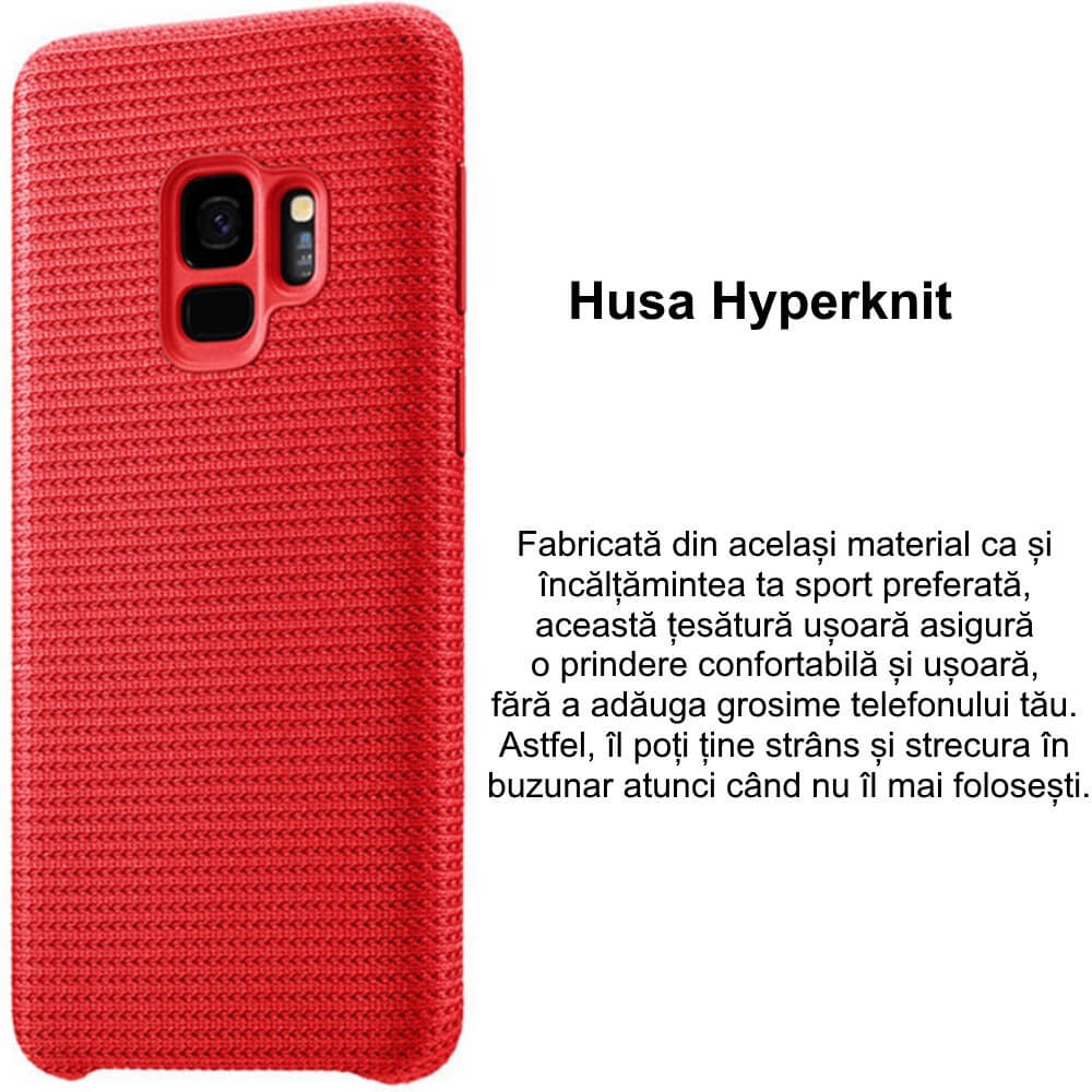 capac protectie spate samsung hyperknit red cover pentru galaxy s9 g960f