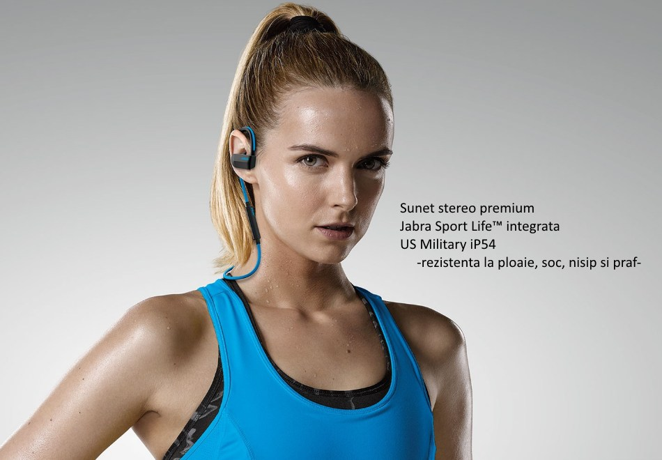 casti bluetooth stereo jabra sport pace wireless albastru