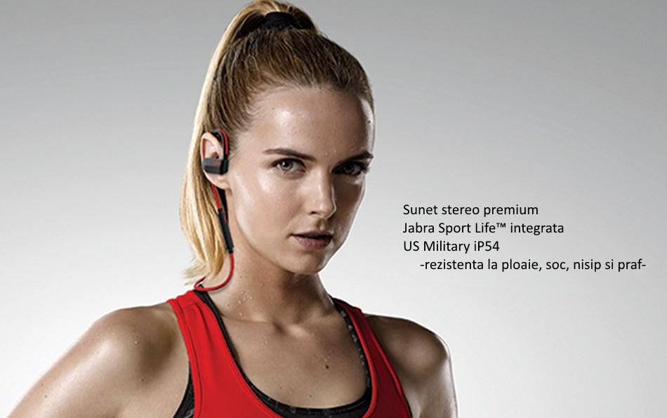 casti bluetooth stereo jabra sport pace wireless rosu