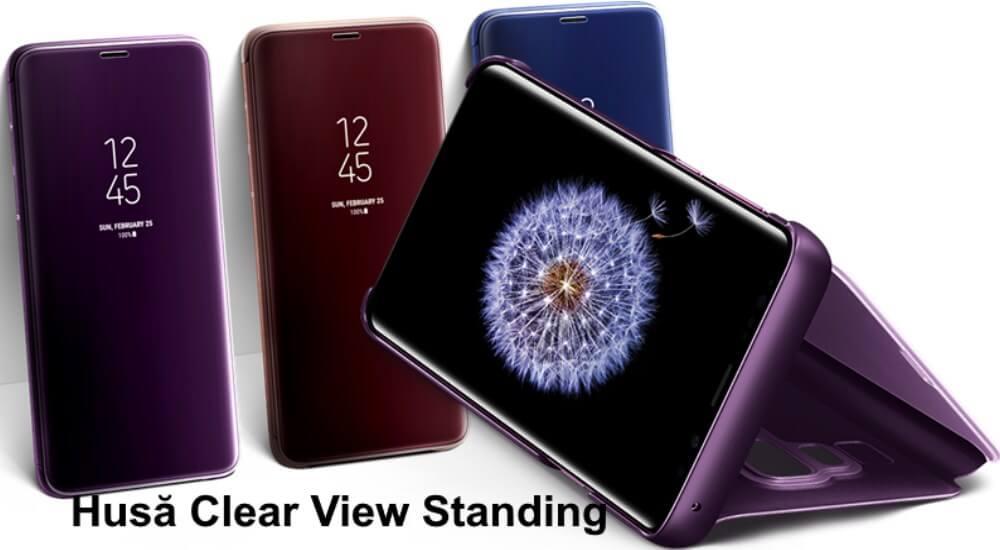 husa samsung clear view stand cover pentru galaxy s9 plus g965f 1