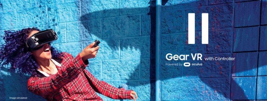 ochelari samsung gear vr 3 2017 cu telecomanda sm r324 blue black 3