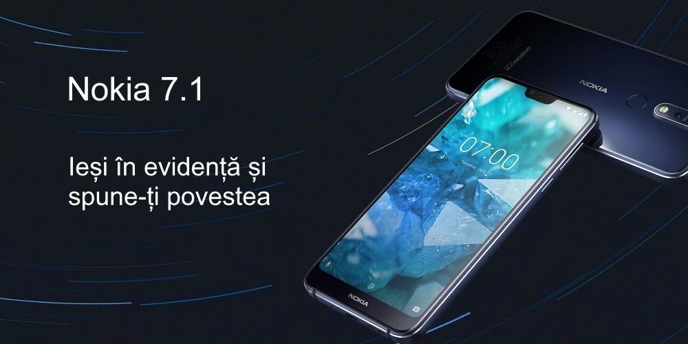 telefon mobil dual sim nokia 7 64gb 4gb ram