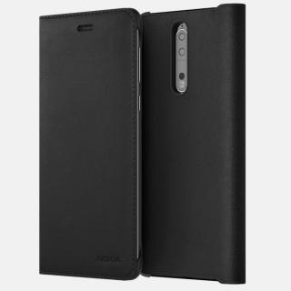 Husa de protectie Leather Flip pentru Nokia 8, CP-801 Black
