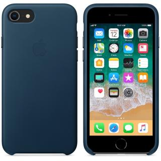 Capac protectie spate Apple Leather Case Cosmos Blue pentru iPhone 8 / iPhone 7, MQHF2ZM/A