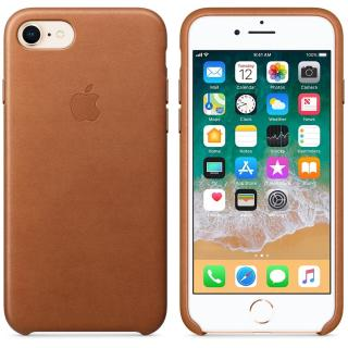 Capac protectie spate Apple Leather Case Saddle Brown pentru iPhone 8 / iPhone 7, MQH72ZM/A