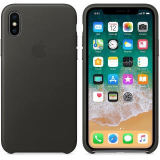 Capac protectie spate Leather Case Charcoal Gray pentru Apple iPhone X, MQTF2ZM/A