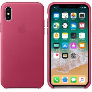 Capac protectie spate Leather Case Pink Fuchsia pentru Apple iPhone X, MQTJ2ZM/A
