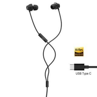 Casca cu fir stereo HTC BoomSound MAX 320 Dark Grey, In-Ear, suport Hi-Res, USB Type-C, pentru HTC U11, HTC U Ultra, HTC U Play