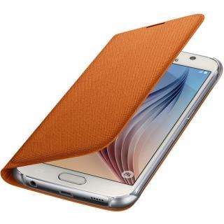 Husa Flip Wallet Orange Fabric pentru Samsung Galaxy S6 (G920), EF-WG920BOEGWW