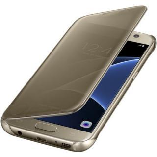Husa Clear View Cover pentru Samsung Galaxy S7 (G930) EF-ZG930CFEGWW Gold