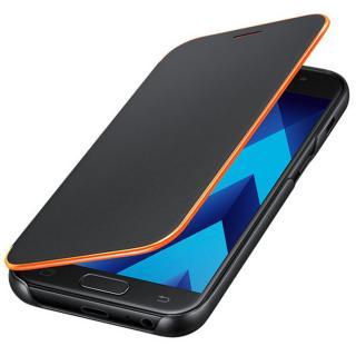 Husa Neon Flip Cover pentru Samsung Galaxy A3 (2017), EF-FA320PBEGWW Black