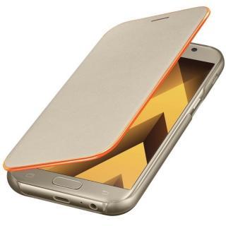 Husa Neon Flip Cover pentru Samsung Galaxy A5 (2017), EF-FA520PFEGWW Gold