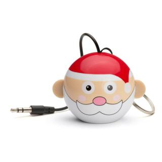 Boxa portabila KitSound Trendz Mini Buddy Father Christmas, KSNMBFC, Rosu