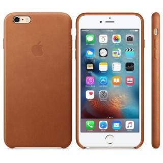 Capac protectie spate Apple Leather Case Premium Saddle Brown pentru iPhone 6s Plus MKXC2ZM/A