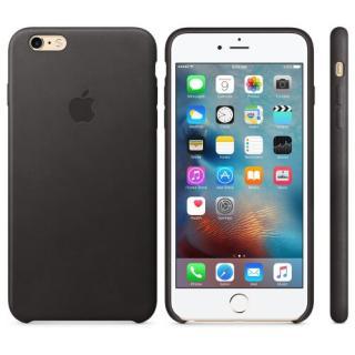 Capac protectie spate Apple Leather Case Premium Black pentru iPhone 6s Plus MKXF2ZM/A