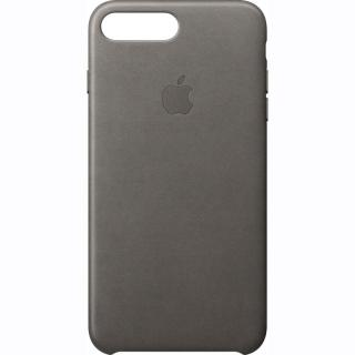 Capac protectie spate Apple Leather Case Storm Gray pentru iPhone 7 Plus, MMYE2ZM/A