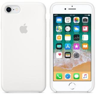 Capac protectie spate Apple Silicone Case White pentru iPhone 8 / iPhone 7, MQGL2ZM/A