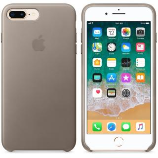 Capac protectie spate Apple Leather Case Taupe pentru iPhone 8 Plus /iPhone 7 Plus, MQHJ2ZM/A
