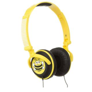 Casti audio cu banda KitSound My Doodles Bee, KSDOODLEBEE, Galben
