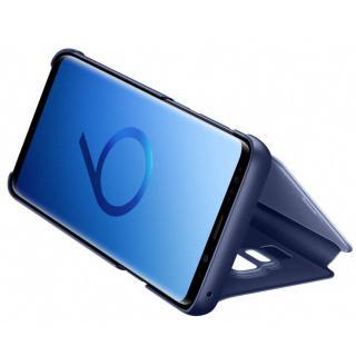 Husa Samsung Clear View Stand Cover pentru Galaxy S9 Plus (G965F), EF-ZG965CLEGWW Blue