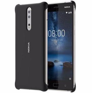 Capac protectie spate Soft Touch pentru Nokia 8, CC-801 Black