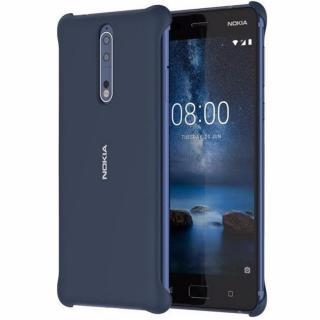 Capac protectie spate Soft Touch pentru Nokia 8, CC-801 Blue