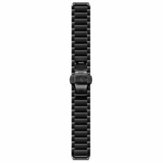 Bratara zale metalice negre, otel inoxidabil (Black Plated Link) pentru Huawei Watch W1