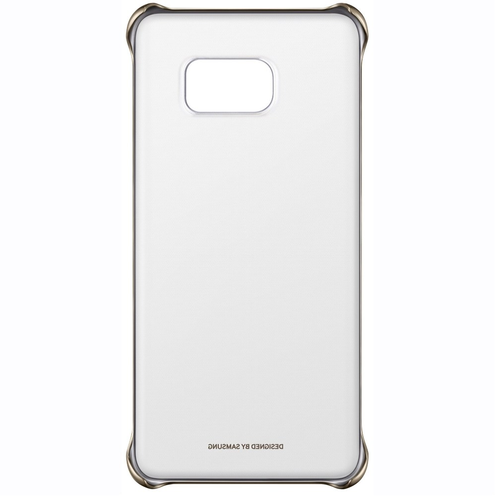 Capac protectie Clear Cover Gold pentru Samsung Galaxy S6 Edge+ (G928), EF-QG928CFEGWW