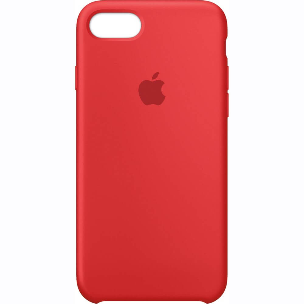 Capac protectie spate Apple Silicone Case Red pentru iPhone 7, MMWN2ZM/A