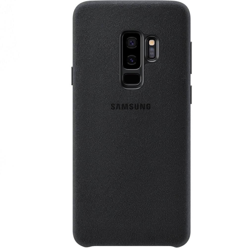 Capac protectie spate Samsung Alcantara Cover Black pentru Galaxy S9 Plus (G965F), EF-XG965ABEGWW