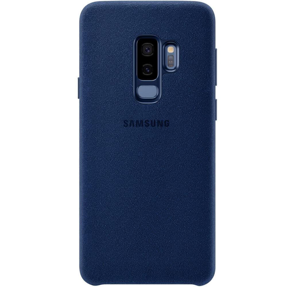 Capac protectie spate Samsung Alcantara Cover Blue pentru Galaxy S9 Plus (G965F), EF-XG965ALEGWW