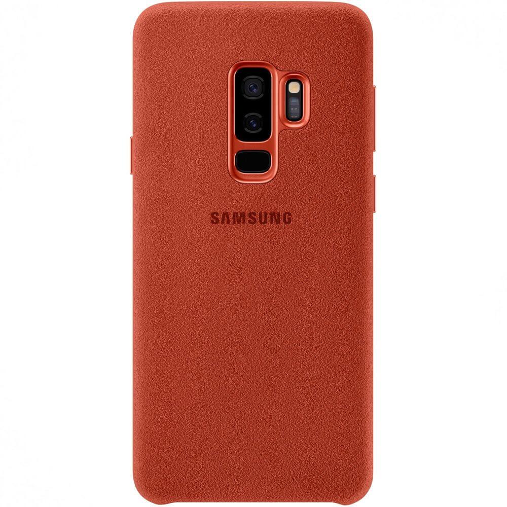 Capac protectie spate Samsung Alcantara Cover Red pentru Galaxy S9 Plus (G965F), EF-XG965AREGWW
