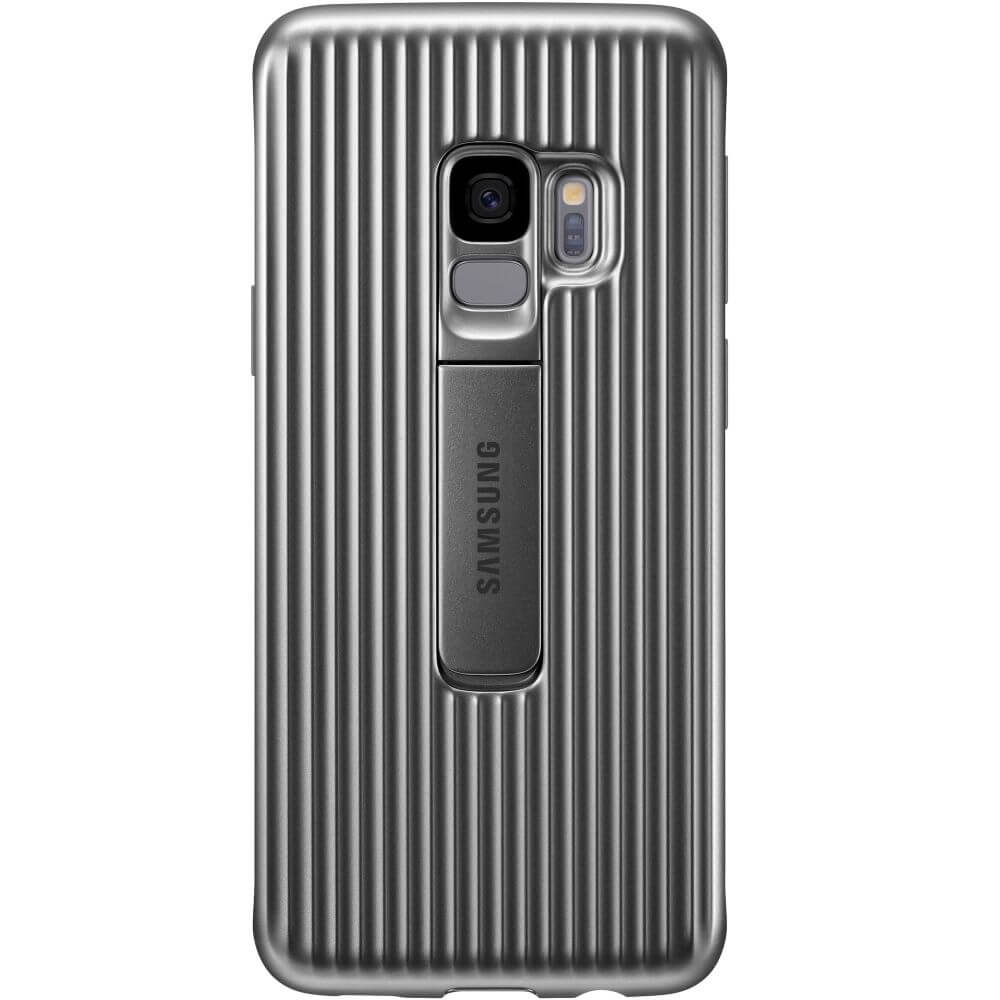 Capac protectie spate Samsung Protective Cover Silver pentru Galaxy S9 (G960F), EF-RG960CSEGWW