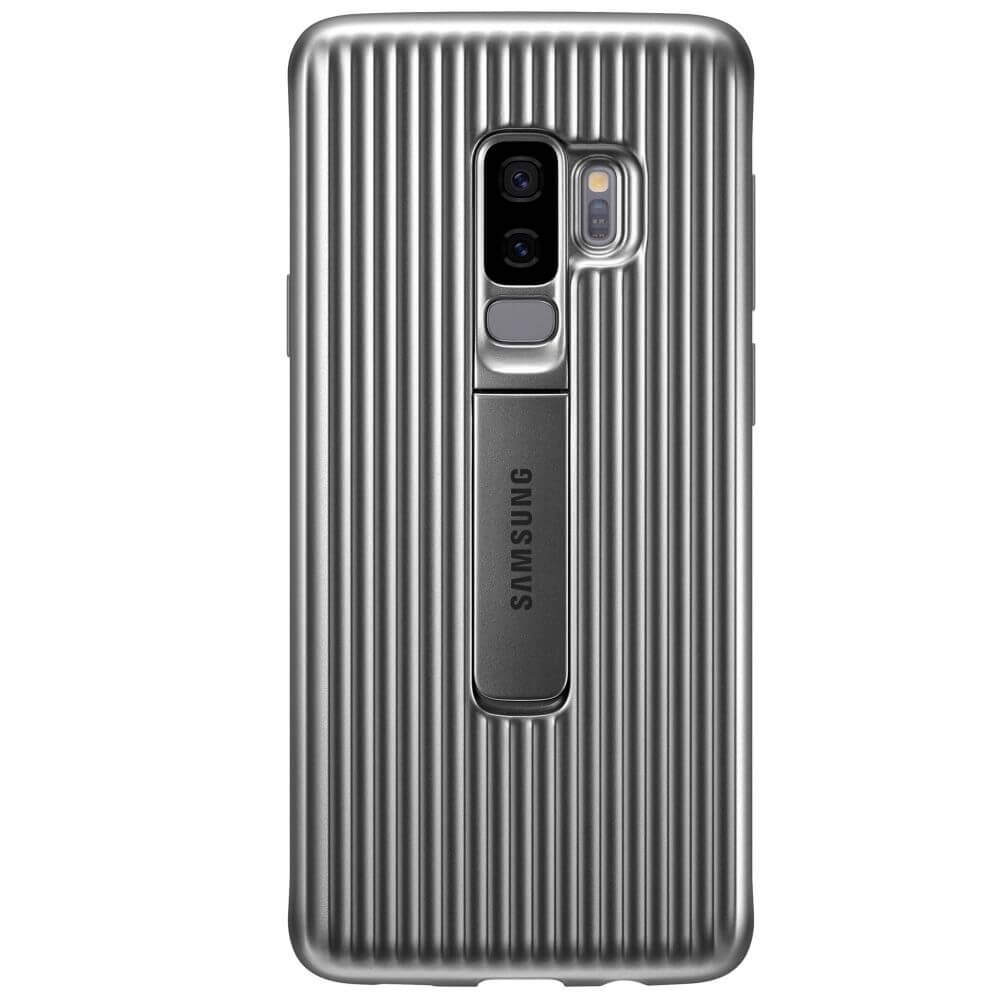 Capac protectie spate Samsung Protective Cover Silver pentru Galaxy S9 Plus (G965F), EF-RG965CSEGWW