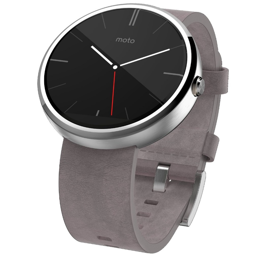 SmartWatch Motorola Moto 360 Leather Grey