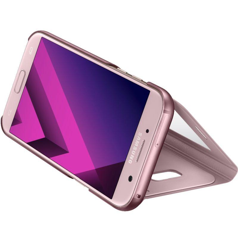 Husa S-View Cover Stand pentru Samsung Galaxy A5 (2017), EF-CA520PPEGWW Pink