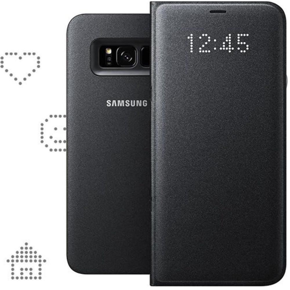 Husa protectie LED Flip Wallet pentru Samsung Galaxy S8 Plus (G955), EF-NG955PBEGWW Black