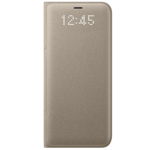 "Samsung Galaxy S8 Plus (G955) - Husa tip ""LED Flip Wallet"" - Gold"