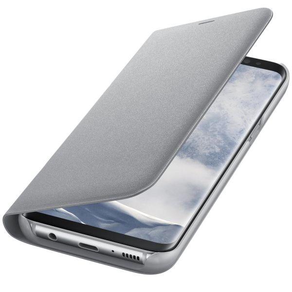 "Samsung Galaxy S8 Plus (G955) - Husa tip ""LED Flip Wallet"" - Argintiu"