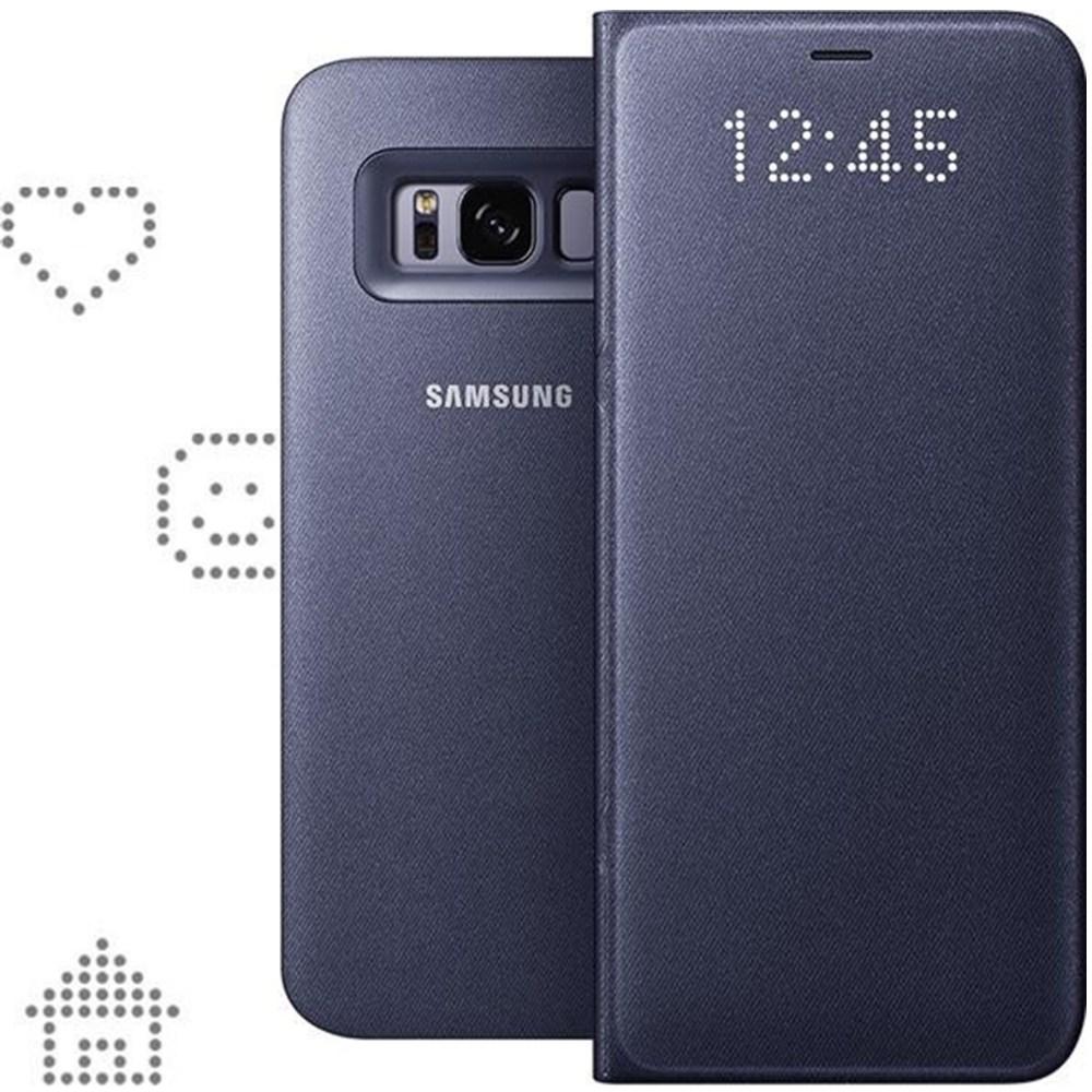 Husa protectie LED Flip Wallet pentru Samsung Galaxy S8 Plus (G955), EF-NG955PVEGWW Violet
