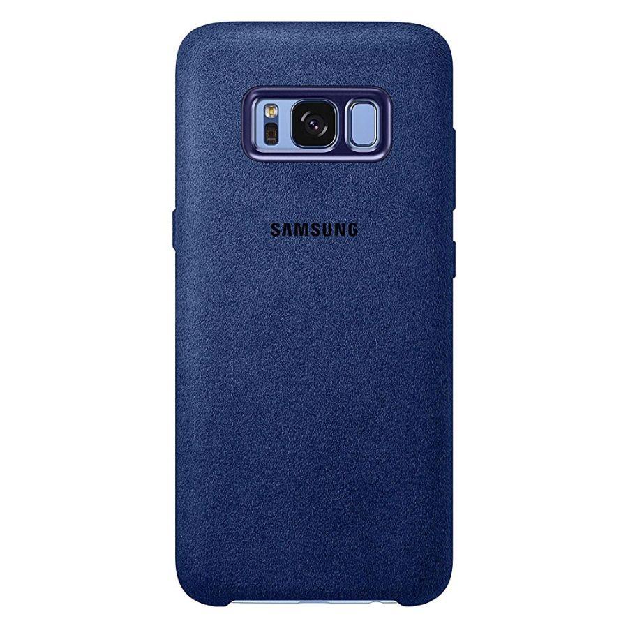 Capac protectie spate Alcantara Cover Blue pentru Samsung Galaxy S8 Plus (G955), EF-XG955ALEGWW