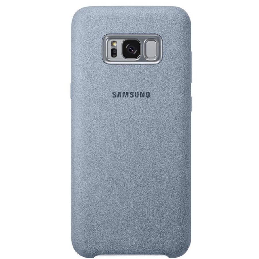 Capac protectie spate Alcantara Cover Mint pentru Samsung Galaxy S8 Plus (G955), EF-XG955AMEGWW