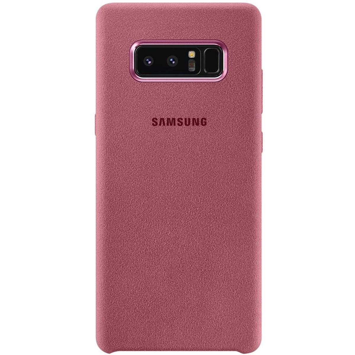 Capac protectie spate Alcantara Cover Pink pentru Samsung Galaxy Note 8 (N950), EF-XN950APEGWW