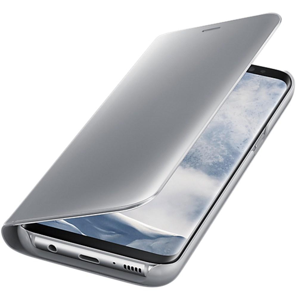 Clear View Stand Cover pentru Samsung Galaxy S8 Plus (G955), EF-ZG955CSEGWW Silver