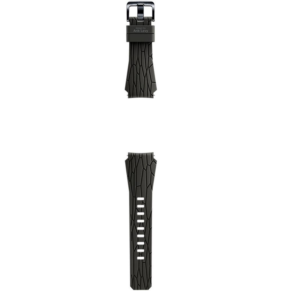 Bratara silicon (Arik Levy Facet) pentru Samsung Gear S3, ET-YSI76MD Brown