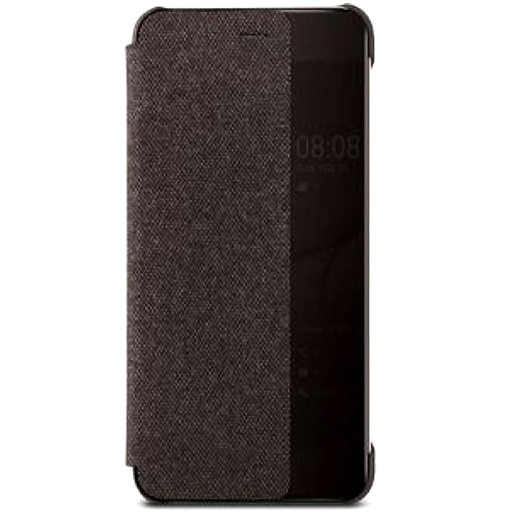 Husa Flip Smart View Cover 51991887 pentru Huawei P10, Brown