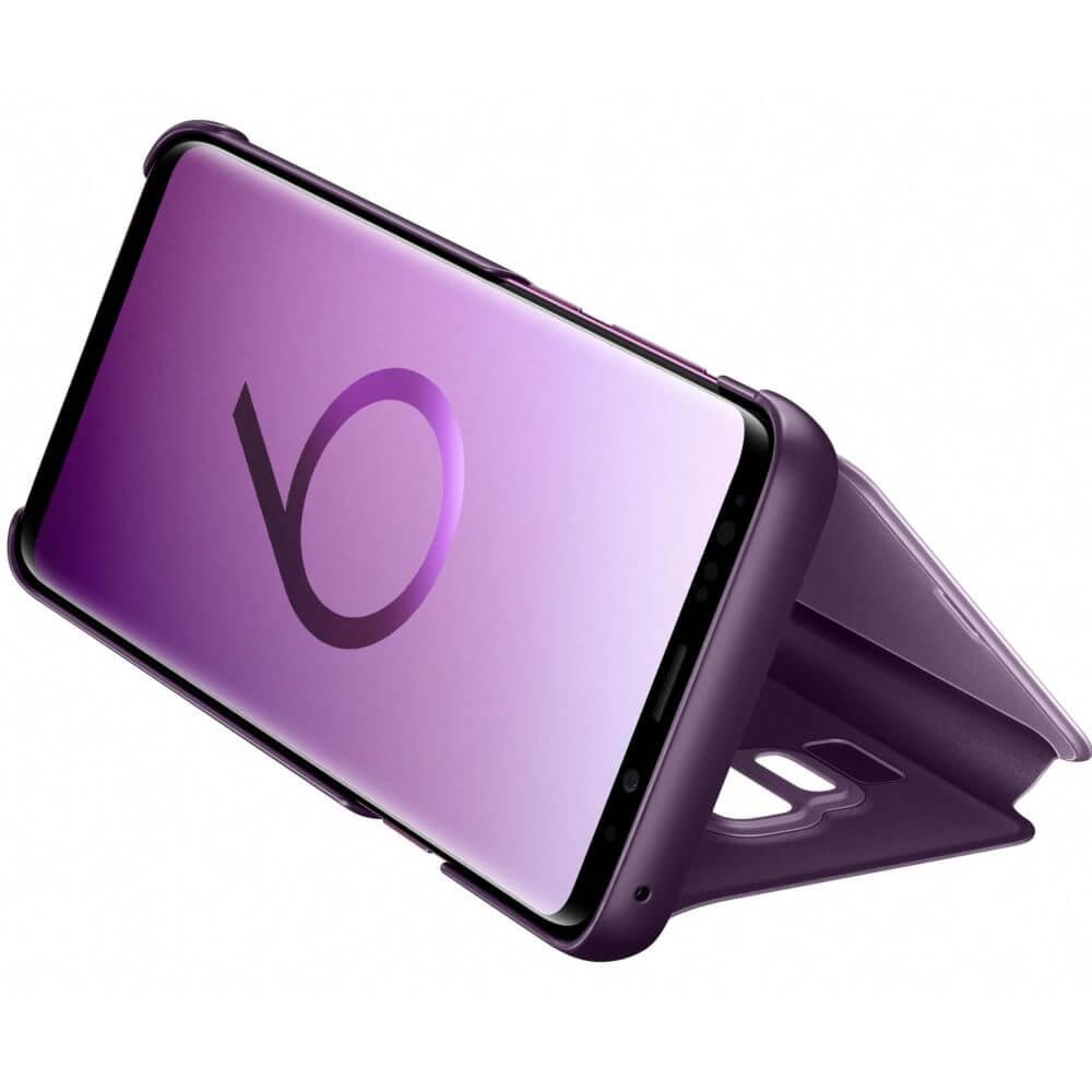 Husa Samsung Clear View Stand Cover pentru Galaxy S9 Plus (G965F), EF-ZG965CVEGWW Purple