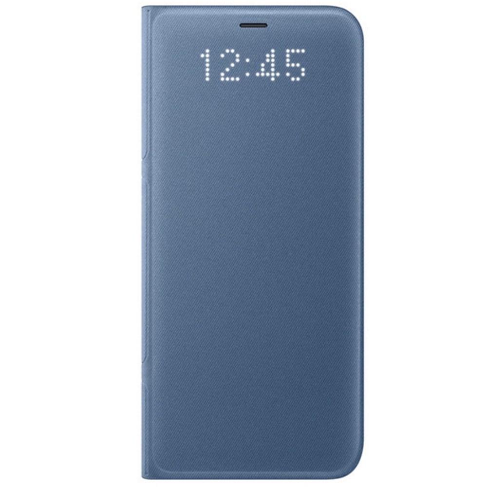 Husa protectie LED Flip Wallet pentru Samsung Galaxy S8 (G950), EF-NG950PLEGWW Blue